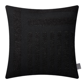Contra Striped Glitter Pillow - 40x40cm - Black