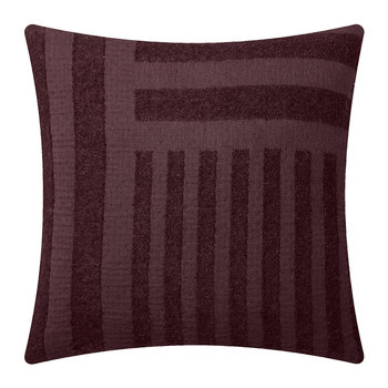 Contra Striped Glitter Pillow - 40x40cm - Bordeaux
