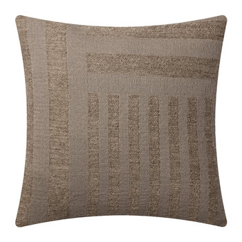 Contra Striped Glitter Pillow - 40x40cm - Walnut