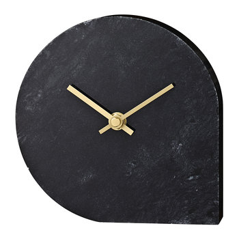 Stilla Marble Clock - Black