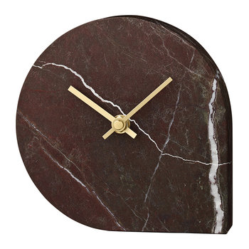 Stilla Marble Clock - Bordeaux