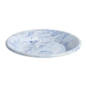 Soft Ice Lunch Plate - Enamelled Steel - Blue