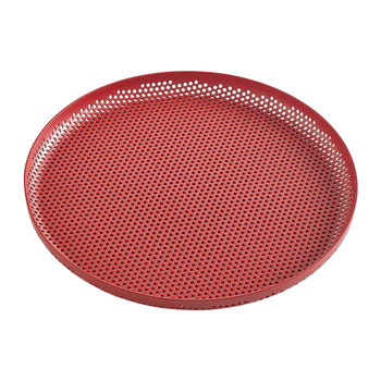 Perforated Aluminium Tray - Medium - Red