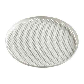 Perforated Aluminum Tray - Large - Soft Gray