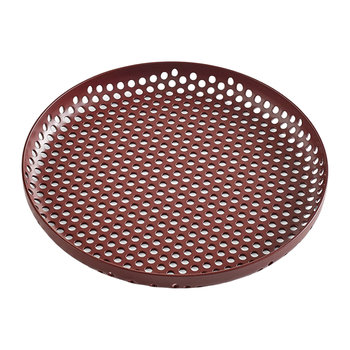 Perforated Aluminum Tray - Small - Bordeaux