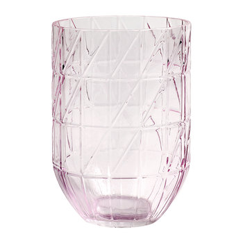 Glass Colour Vase - Large - Pink