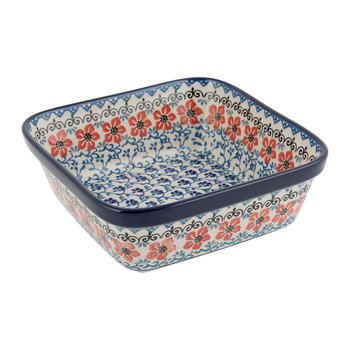 Square Oven Dish - Red Violets