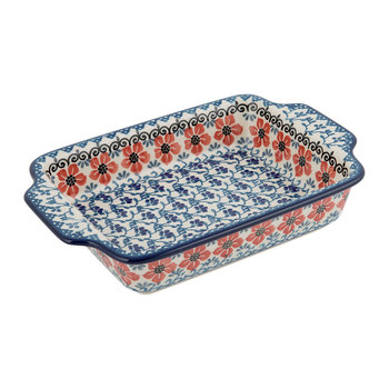 Baking Dish - Red Violets
