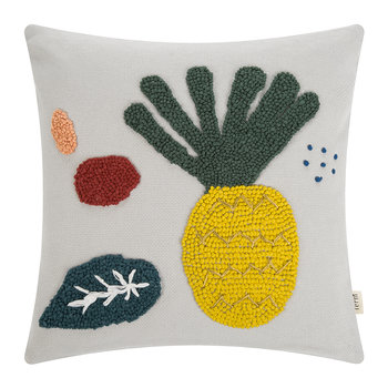 Embroidered Fruiticana Cushion - Pineapple