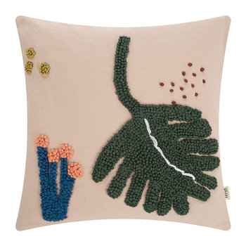 Embroidered Fruiticana Cushion - Leaf