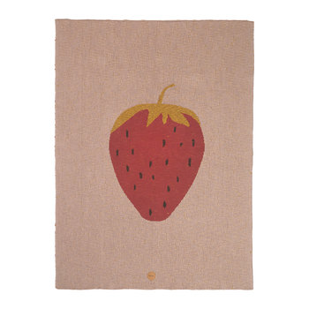 Knitted Fruiticana Baby Blanket - Strawberry