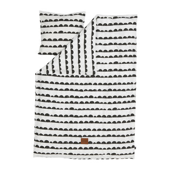 Half Moon Duvet Set - Black/White - Single