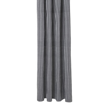 Chambray Shower Curtain - Striped - Black/White