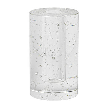 Bubble Glass Object - Clear - Cylinder