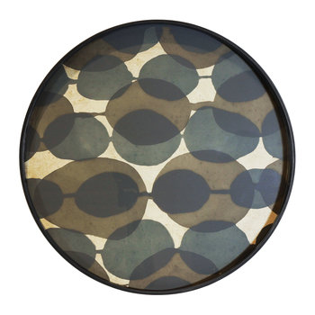Connected Dots Glass Tray - Round - Small