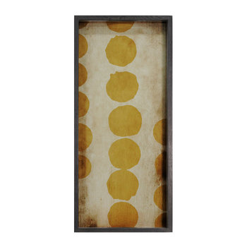 Sienna Dots Glass Tray - Rectangular - Medium