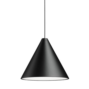 String Ceiling Light - Cone Head - Black