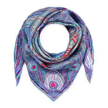 Hera Scarf - 90x90cm - Red/Purple
