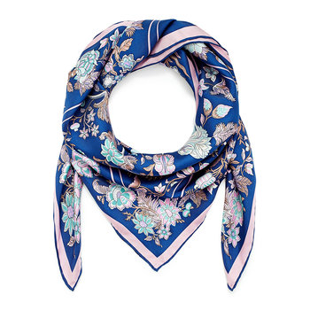 Tree of Life Scarf - 90x90cm - Navy