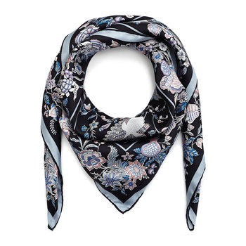 Tree of Life Scarf - 90x90cm - Black