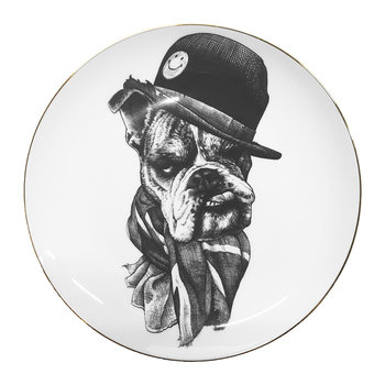 Perfect Plates - Bernard Bulldog With Scarf