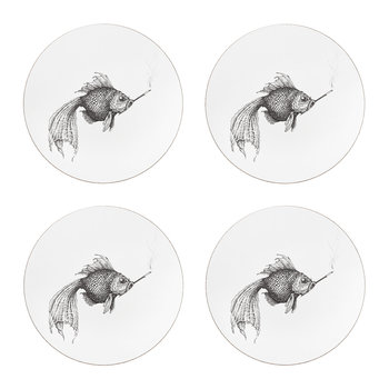 Smokey Fish Placemat - Round - Set of 4