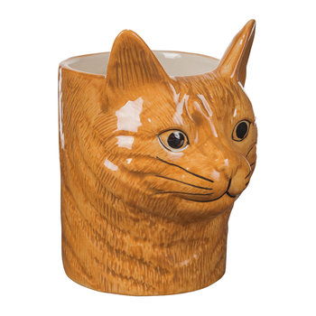 Ceramic Moggy Pen Pot - Vincent
