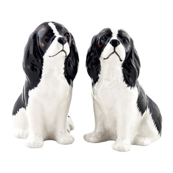 Cavalier King Charles Spaniel Salt & Pepper Shakers - Tri