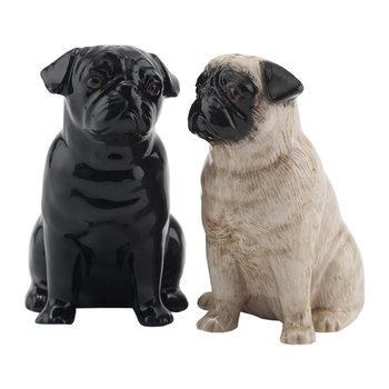 Pug Salt & Pepper Shakers - Fawn/Black