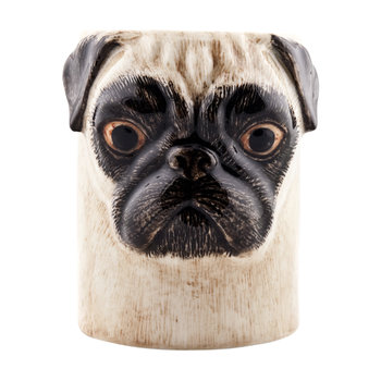 Ceramic Pug Pen Pot - Fawn