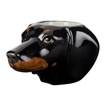Dachshund Egg Cup - Black/Tan