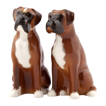 Boxer Dog Salt & Pepper Shakers