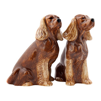 Cocker Spaniel Salt & Pepper Shakers - Golden