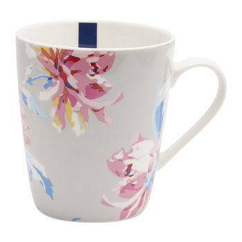 Whitstable Floral Fine China Mug - Grey