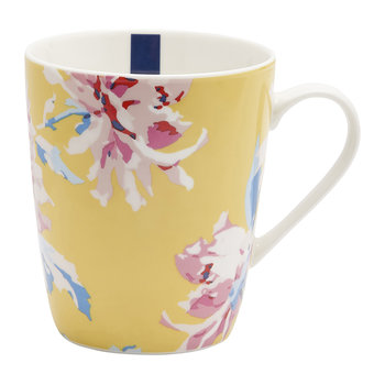 Whitstable Floral Fine China Mug - Yellow