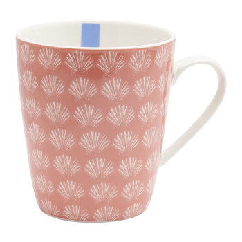 Coastal Geo Fine China Mug - Shell