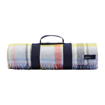 Woven Checked Picnic Blanket - Multi
