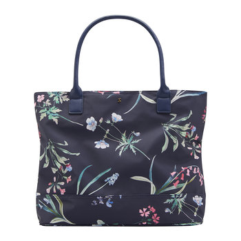 Cariwell Canvas Bag - Navy Botanicals