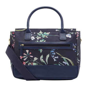 Day To Day Canvas Everyday Bag - Navy Botanicals