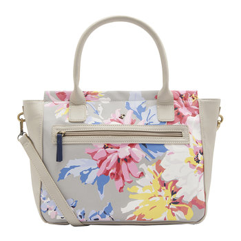 Day To Day Printed Everyday Bag - Grey Whitstable Floral