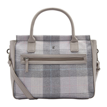 Day To Day Tweed Shoulder Bag - Grey Check