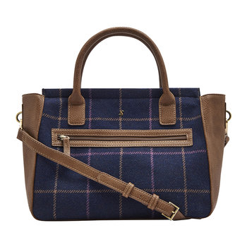 Day To Day Tweed Shoulder Bag - Navy Check