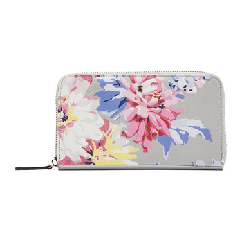 Fairford Printed Purse - Grey Whitstable Floral