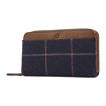 Fairford Tweed Purse - Navy Check