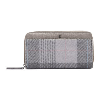 Fairford Tweed Wallet - Grey Check