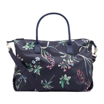 Kembry Canvas Holdall - Navy Botanicals