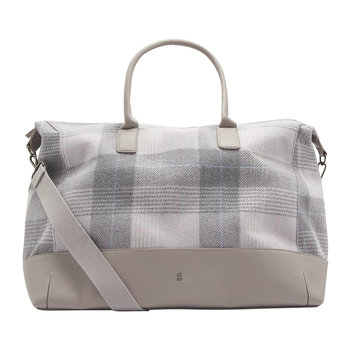 Paddington Tweed Weekend Bag - Grey Check
