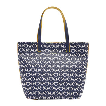 Reversible Revery Printed Shoulder Bag - Navy Fox Terrier Geo