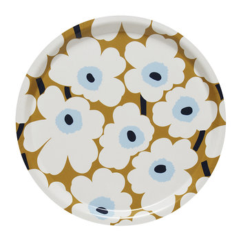 Unikko Plywood Tray - Mini - Beige/White/Blue