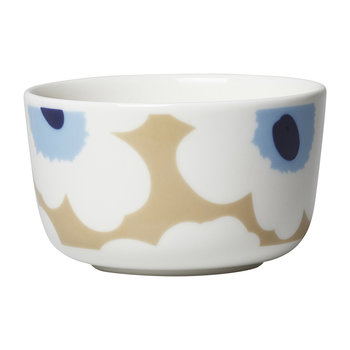 Oiva/Unikko Bowl - Beige/White/Blue